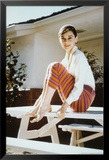 Audrey Hepburn-Stripes Print