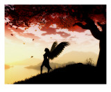 Angel at Dawn Giclee Print by Julie Fain
