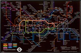 London Underground (Black Map) Prints
