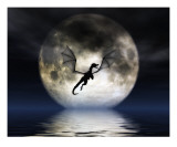 Dragon Moon Giclee Print by Julie Fain