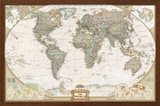 World Political Map, Executive Style Prints