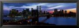 New York Skyline at Night Posters