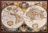 17th Century World Map Photo