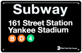 Subway 161 Street Station - Yankee Stadium (Tin) Plaque en m&#233;tal