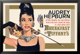 Audrey Hepburn - Breakfast at Tiffany&#39;s Gold One-Sheet Posters