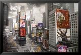 Vue surplombée de Times Square, New York Posters