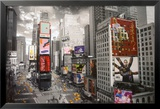 NEW YORK - Times Square Luftaufnahme Poster