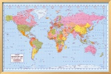 Political World Map Prints