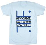 New Order - Fact. 50 1981 Movement T-shirts