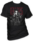 Elvis - Black Leather T-Shirt
