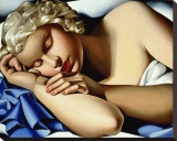 Dormeuse Stretched Canvas Print by Tamara de Lempicka