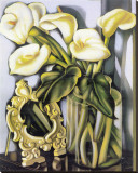 Arums III Stretched Canvas Print by Tamara De Lempicka