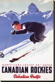Banff-Lake Louise Ski Areas, Canadian Rockies Impressão em tela esticada