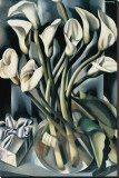 Arums I Stretched Canvas Print by Tamara de Lempicka