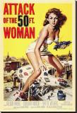 L'Attaque de la femme de 50pieds - Film de 1958 Reproduction sur toile tendue