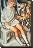 Kizette au Balcon Stretched Canvas Print by Tamara de Lempicka