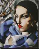 Echarpe Bleue Leinwand von Tamara de Lempicka