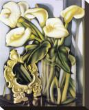 Arums III Stretched Canvas Print by Tamara de Lempicka