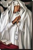 La Communiante Stretched Canvas Print by Tamara de Lempicka