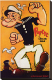 Popeye Stretched Canvas Print