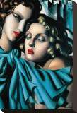 Les Jeunes Filles Leinwand von Tamara de Lempicka