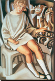 Kizette au Balcon Stretched Canvas Print by Tamara de Lempicka