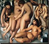 Femmes au Bain Leinwand von Tamara de Lempicka