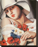 En Plein Ete Stretched Canvas Print by Tamara de Lempicka