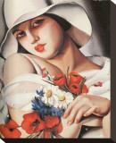 En Plein Ete Stretched Canvas Print by Tamara de Lempicka