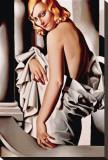 Portrait de Marjorie Ferry Stretched Canvas Print by Tamara de Lempicka
