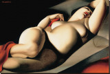 La Belle Rafaela Stretched Canvas Print by Tamara De Lempicka