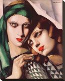 Le Vert Jade Stretched Canvas Print by Tamara de Lempicka