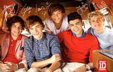 One Direction, photo de groupe signée Affiche