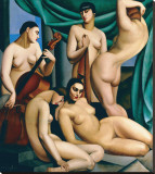 Le Rythme Stretched Canvas Print by Tamara de Lempicka