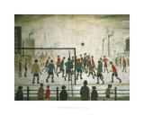Fotbollsmatchen Affischer av Laurence Stephen Lowry
