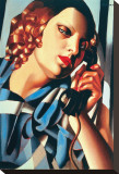 Le Telephone II Stretched Canvas Print by Tamara De Lempicka