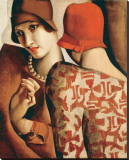 Les Confidences Stretched Canvas Print by Tamara De Lempicka