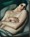 Rafaela sur Fond Vert (Le Reve) Leinwand von Tamara de Lempicka