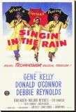 Chantons sous la pluie Reproduction transférée sur toile