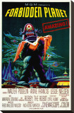 Forbidden Planet Stretched Canvas Print