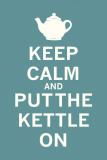 Keep Calm Tea Poster von  The Vintage Collection