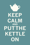 Keep Calm Tea Print by  The Vintage Collection