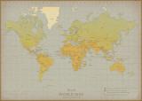 Vintage, verdenskart Posters