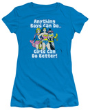 Juniors: Justice League - Girls Can Do Better T-Shirt
