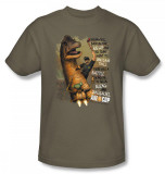 Axe Cop - Aliens and Dinosaurs T-Shirt