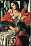 Portrait de Madame Boucard Stretched Canvas Print by Tamara de Lempicka