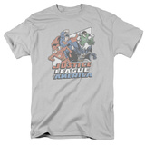 Justice League - Four Against Crime T-shirts
