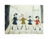 Children Playing Posters by Laurence Stephen Lowry
