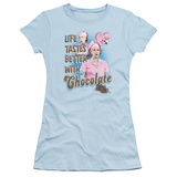 Juniors: I Love Lucy - Better with Chocolate T-Shirt