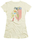 Juniors: Wonder Woman - USA Banner T-shirts